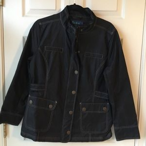 Boden High Quality Black Rain Jacket - UK 14/US 10